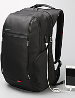 Men Bags All Seasons Patent Leather Sports & Leisure Bag for Casual Sports Outdoor Black