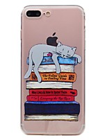 Pour iPhone X iPhone 8 Etuis coque Transparente Motif Coque Arrière Coque Chat Flexible PUT pour Apple iPhone X iPhone 8 Plus iPhone 8