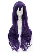 80cm Long Curly Purple Love Live Nozomi Tojo Wig Synthetic Anime Cosplay Hair Wig CS-231S
