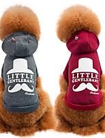 Dog Sweatshirt Dog Clothes Casual/Daily Holiday Fashion Sports Cartoon Fuchsia Gray