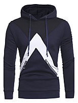 Men's Sports Daily Casual Hoodie Solid Hooded Inelastic Cotton Long Sleeve All Seasons Winter