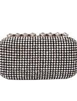 Women Bags All Seasons Glasses Evening Bag Rhinestone Sparkling Glitter for Wedding Event/Party Formal Black
