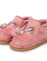 Baby Flats Comfort Ballerina Leather Winter Casual Outdoor Crystal Feather Beading Pearl Magic Tape Flat Heel Blushing Pink Ruby Gray Flat
