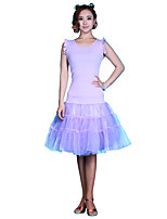 Latin Dance Tutus & Skirts Women's Performance Chinlon Organza Milk Fiber 1 Piece Dropped Skirts