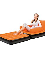 Bestway Sleeping Pad/Sofa Camping Camping/Hiking/Caving Flocked Portable Foldable Compact Travel Rest Stretchy All Seasons Flocking for Single