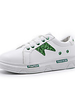 Women's Sneakers Comfort Spring Fall TPU Walking Shoes Casual Office & Career Lace-up Flat Heel White Green 1in-1 3/4in