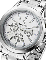 Men's Mechanical Watch Automatic self-winding Calendar Water Resistant / Water Proof Noctilucent Alloy Band Silver