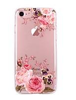 Назначение iPhone X iPhone 8 Чехлы панели Ультратонкий Прозрачный С узором Задняя крышка Кейс для Цветы Мягкий Термопластик для Apple