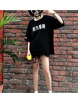 T-shirt Da donna Per uscire Moda città Con stampe Rotonda Cotone Manica corta