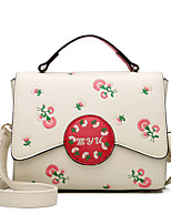 Women Bags All Seasons PU Tote with for Event/Party Casual Formal Outdoor Office & Career White Black