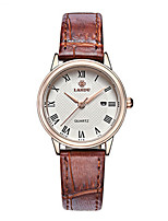 Women's Fashion Watch Quartz Water Resistant / Water Proof Genuine Leather Band Brown
