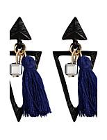 Dame Dråbeøreringe Smykker Mode Boheme Stil Elegant Legering Geometrisk form Trekantet Smykker Til Fest Fødselsdag Aftenselskab I-byen-tøj