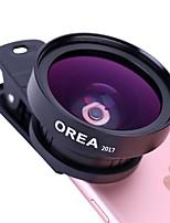 Lente de telefone celular orea com clip auto-temporizador lente grande cpl de ângulo grande de 0.45x de tamanho grande de 15x