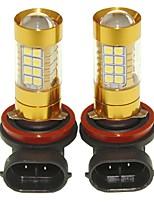Sencart 2pcs h8 pgj19-1 lampadina lampeggiante ha condotto la lampada della lampadina inversa della coda di coda dell'automobile (bianco /