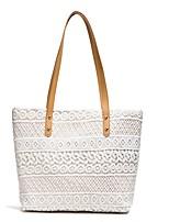 Women Bags All Seasons PU Shoulder Bag Zipper for Casual Outdoor White