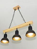Скандинавский стиль железа охватывает твердой древесины столовой люстра люстра