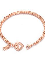 Women's Chain Bracelet Love Fashion Adorable Elegant Titanium Steel Circle Heart Jewelry For Wedding Engagement Ceremony Evening Party