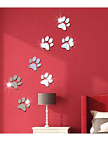 Feet Mirror Decorate Children Room Wall Stickers