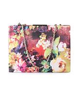 Damen Taschen Frühling Sommer PVC Unterarmtasche Gefärbt Metallkette Kette Streifen für Hochzeit Veranstaltung / Fest Formal Regenbogen