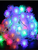 10m 60led rgb christmas holiday string light wedding party décoration rideau lumière 220v