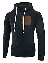Taglie forti Felpa con cappuccio Da uomo Semplice Casual Tinta unita Media elasticità Cotone Manica lunga Autunno Inverno