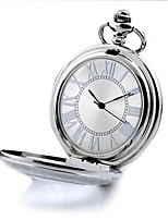 Men's Pocket Watch Automatic self-winding Alloy Band Silver
