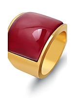 Per uomo Fedine Opal sintetico Di tendenza Vintage Stile punk Acciaio al titanio Circolare Gioielli Per Matrimonio Fidanzamento