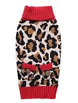 Gatto Cane Cappottini Maglioni Abbigliamento per cani Da serata Cosplay Casual Tenere al caldo Matrimonio Natale Capodanno Leopardo