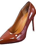 Femme Chaussures à Talons Semelles Légères Printemps Automne Polyuréthane Décontracté Habillé Talon Aiguille Blanc Noir Vert Rose Brun