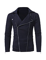 Men's Casual/Daily Simple Sweatshirt Solid Shirt Collar Micro-elastic Acrylic Long Sleeve Fall