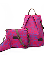 Women Bags All Seasons Nylon Bag Set 3 Pcs Purse Set for Casual Black Red Fuchsia Brown