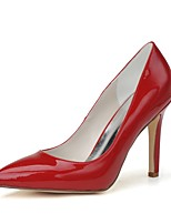 Damen High Heel formale Schuhe Frühling Sommer Lackleder Kleid Party & Festivität Stöckelabsatz Weiß Rot Mandelfarben 7,5 - 9,5 cm
