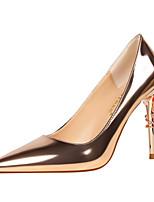 Damen High Heels formale Schuhe Sommer Herbst Lackleder Hochzeit Party & Festivität Kleid Stöckelabsatz Silber Dunkelgrau Rot