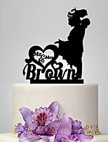 Personalized Acrylic And You Hug Wedding Cake Topper