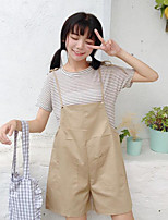 T-shirt Pantalone Completi abbigliamento Da donna Per uscire Semplice Estate,A strisce Rotonda Manica corta