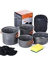 Naturehike Camping-Kochgeschirr Camping-Kochtop Set Tragbar für Camping Picknick Camping & Wandern Grill-Feuerzeug