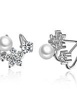 Homme Femme Boucles d'oreille goujon Mode Simple Style Classique Elegant Plaqué argent Bijoux Bijoux PourMariage Soirée Anniversaire