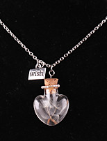 Women's Pendant Necklaces Heart Alloy Love Heart Jewelry For Wedding Party Birthday Graduation Gift Daily