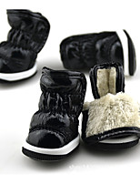 Dog Shoes & Boots Keep Warm Solid Blue Fuchsia Purple Black