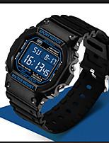 Men's Digital Watch Digital Water Resistant / Water Proof Alarm Stopwatch Noctilucent Rubber Band Black