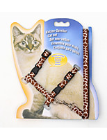 Leash Portable Leopard Nylon