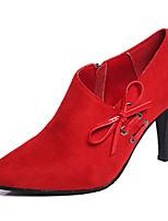 Da donna Stivaletti Footing Anfibi Cashmere Estate Serata e festa Fiocco A stiletto Nero Grigio Rosso 5 - 7 cm