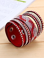 Women's Leather Bracelet Handmade Simple Style Classic Leather Circle Jewelry For Wedding Daily Casual Going out Street