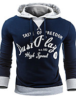 Hot Men's Sports Holiday Casual/Daily Hoodie Letter Oversized Hooded Micro-elastic Cotton  Long Sleeve Fall Winter