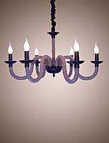 Loft Industrial Wind Vintage Iron Lamps Coffee Shops Restaurant Chandeliers Rope Chandelier Lights