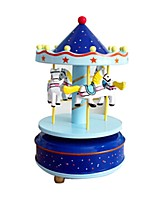 Music Box Toys Horse Carousel Plastics Pieces Kid Unisex Valentine's Day Gift