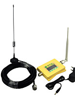Intelligent Display Mobile Phone 3G 2100mhz Signal Booster W-CDMA Signal Repeater with Whip Antenna / Sucker Antenna Yellow