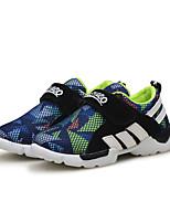 Boys' Sneakers Walking Comfort Leather Spring Fall Casual Outdoor Hook & Loop Split Joint Flat Heel Ruby Dark Blue Flat