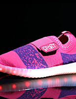 Girls' Athletic Shoes Light Up Shoes Comfort Light Soles Breathable Mesh Spring Fall Casual Outdoor Flat Heel Blushing Pink Blue Black