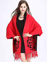 Women's Wrap Shawls Core Spun Yarn Wedding Party/ Evening Tassel